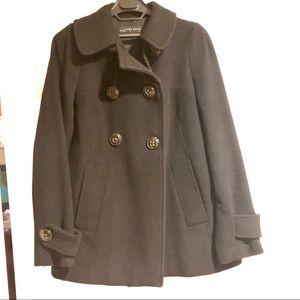 ZARA Wool Cropped Swingcoat, Black, Size S